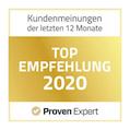 Proven Expert Top Empfehlung Siegel 2020